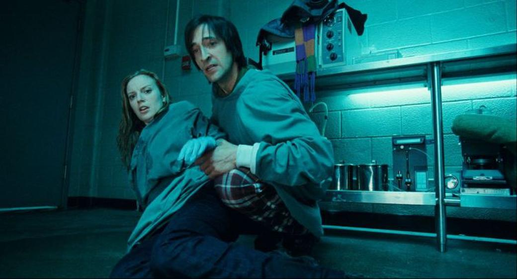 Sarah Polley as Elsa Kast and Adrien Brody as Clive Nicoli in