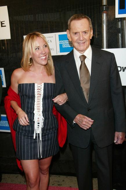 Heather and Tony Randall at the world premiere of
