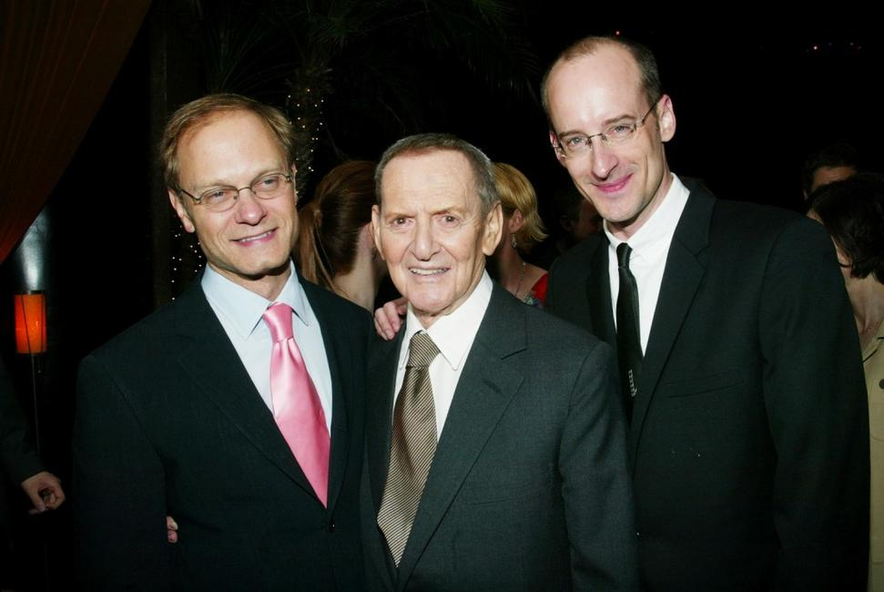 David Hyde Pierce, Tony Randall and Director Peyton Reed at the opening night party of 2003 Tribeca Film Festival.