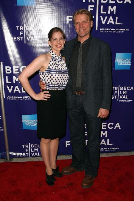 Anna Chlumsky and David Rasche at the premiere of