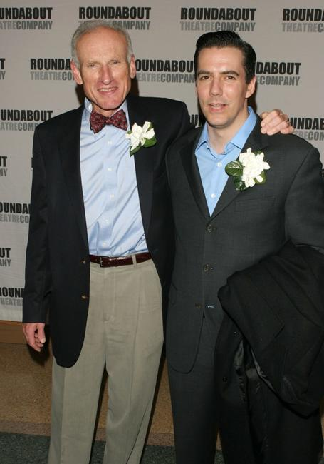 James Rebhorn and Adam Trese at the New York premiere of