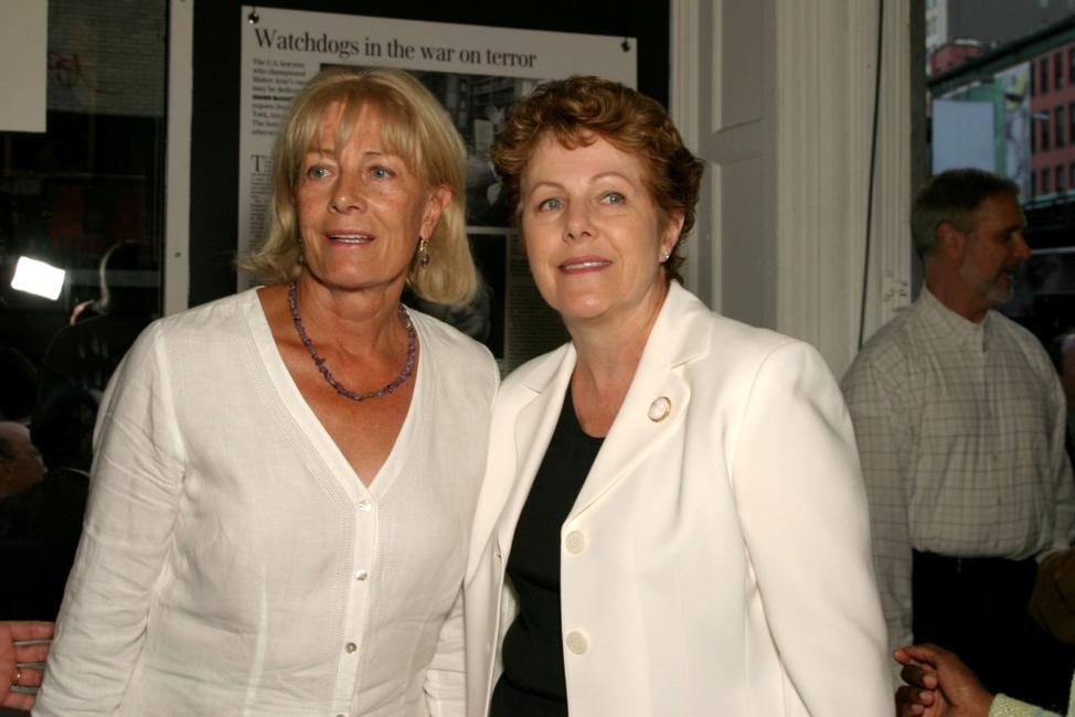 Vanessa Redgrave and Lynn Redgrave at the opening of
