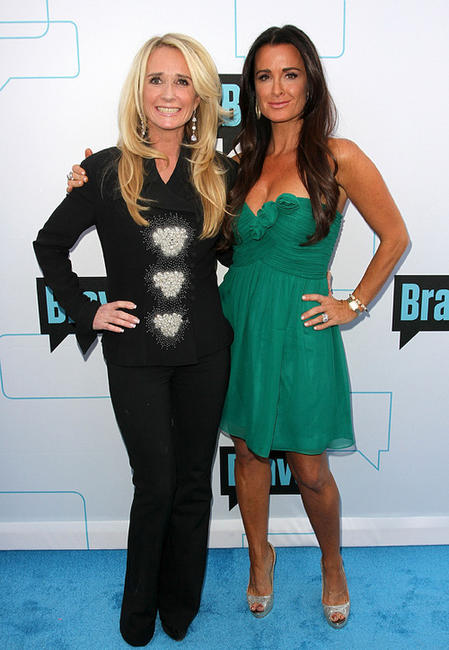 Kim Richards and Kyle Richards at the Bravo Media's 2011 Upfront Presentation in California.