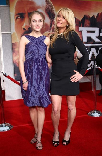 AnnaSophia Robb and Kim Richards at the premiere of