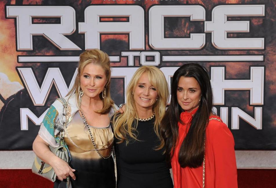 Kathy Hilton, Kim Richards and Kyle Richards at the premiere of