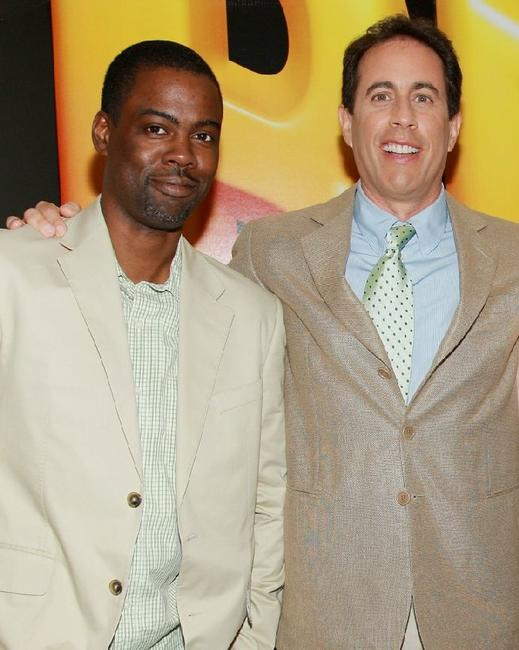 Chris Rock and Jerry Seinfeld at the special screening of