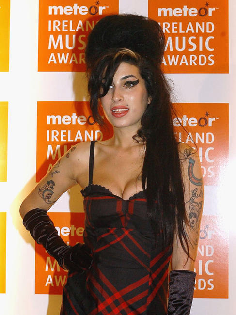 Amy Winehouse at the Meteor Ireland Music Awards 2007 in Dublin.