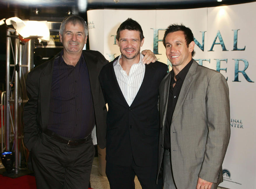 John Jarratt, Matt Nable and Matthew Johns at the Australia premiere of