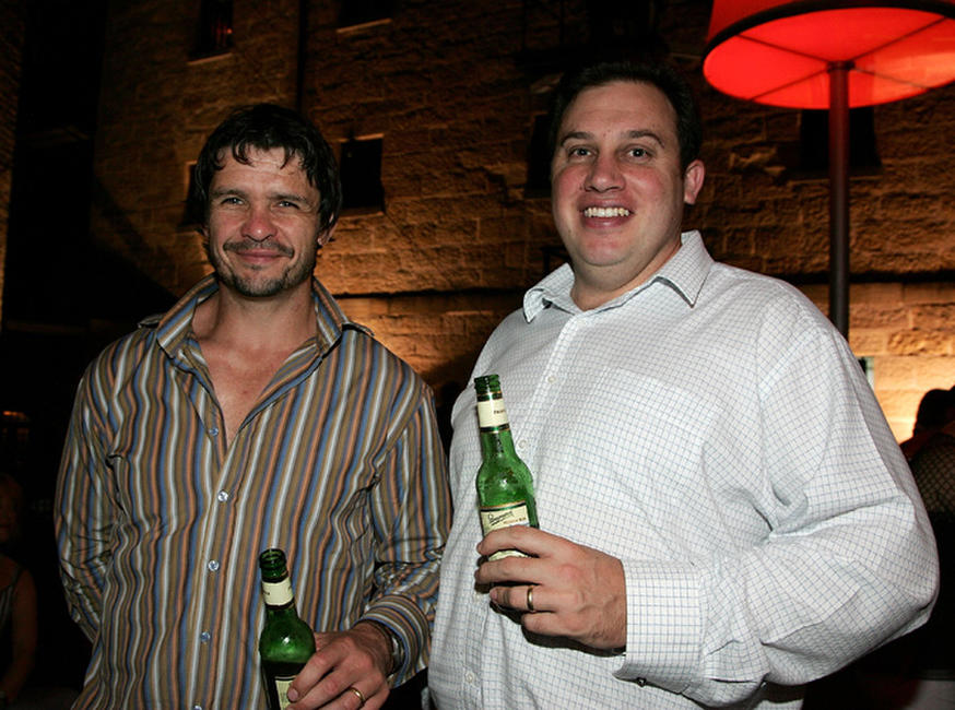 Matt Nable and Phil Jackett at the 2008 Movie Extra FilmInk Awards.