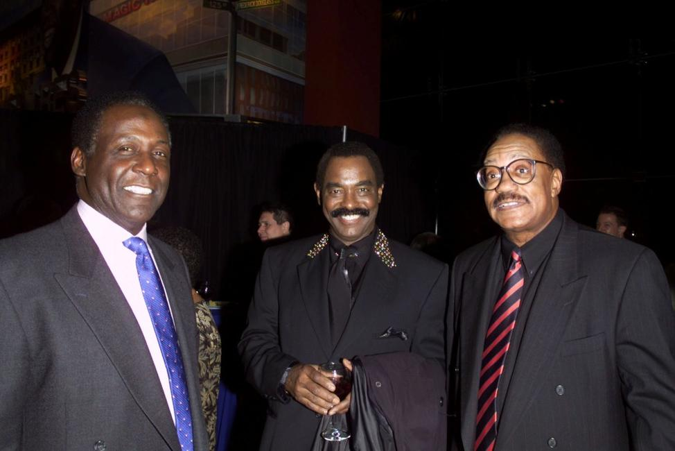 Richard Roundtree, Chuck Jackson and Bobby Rogers at the VIP reception for the Rhythm & Blues Foundation's 12th annual Pioneer Awards.