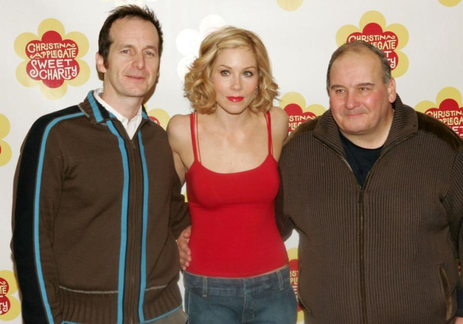 Denis O'Hare, Christina Applegate and Ernie Sabella at the broadway musical