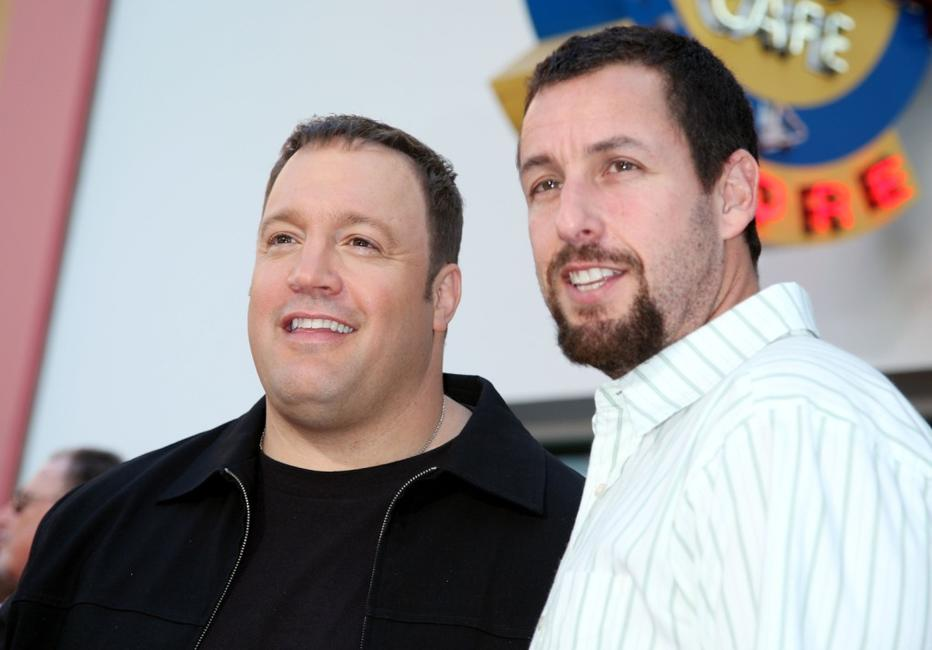 Adam Sandler and Kevin James at the premiere of