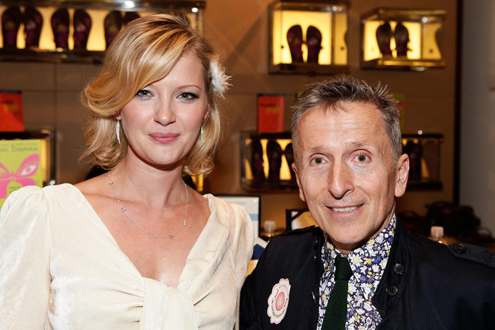 Gretchen Mol and Simon Doonan at the Barneys New York celebration of Fashion's Night Out .