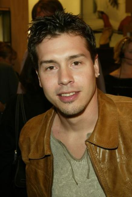 Jon Seda at the opening of Ermenegildo Zegna Flagship store.