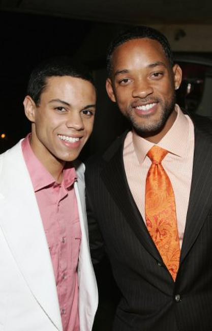 Evan Ross and Will Smith at the Hollywood afterparty of