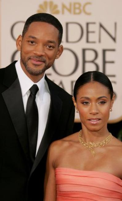 Will Smith and Jada Pinkett Smith at the 64th Annual Golden Globe Awards.