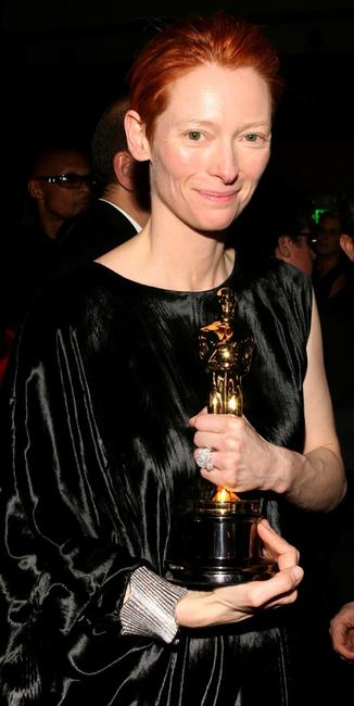 Tilda Swinton at the Governor's Ball following the 80th Annual Academy Awards.