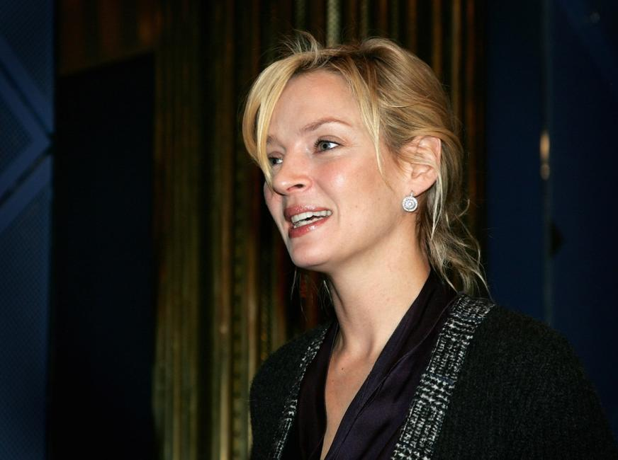 Uma Thurman at the press conference of Nobel Peace Prize Concert in Oslo.