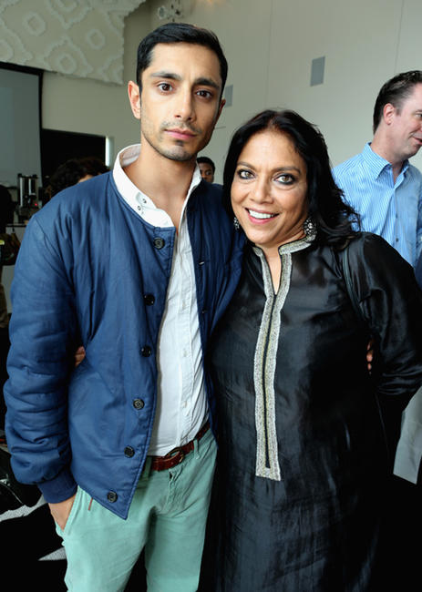 Riz Ahmed and director Mira Nair at the Doha Luncheon during the 2012 Toronto International Film Festival.