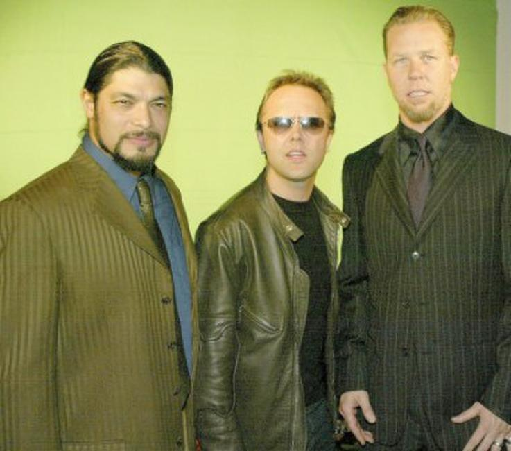 Robert Trujillo, Lars Ulrich and James Hetfield at the 21st Annual ASCAP Pop Music Awards.
