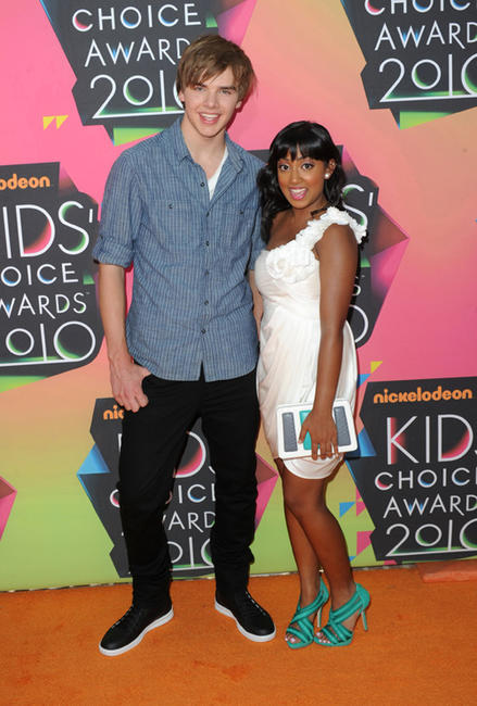 Sam Earle and Melinda Shankar at the Nickelodeon's 23rd Annual Kids' Choice Awards in California.