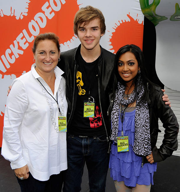President of Nickelodeon MTVN Kids and Family Group Cyma Zarghami, Sam Earle and Melinda Shankar at the Nickelodeon's Sixth Annual Worldwide Day of Play with NYC Big Brothers and Big Sisters in New York City.