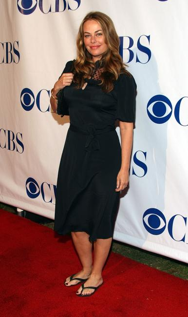 Polly Walker at the CBS Summer Stars party 2007.