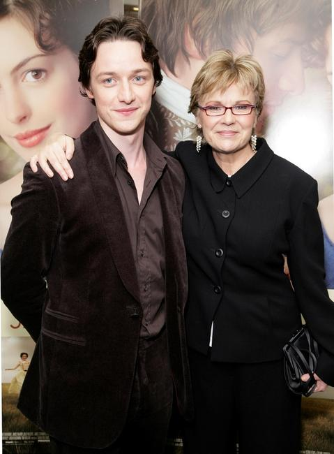 Julie Walters and James McAvoy at the world premiere of
