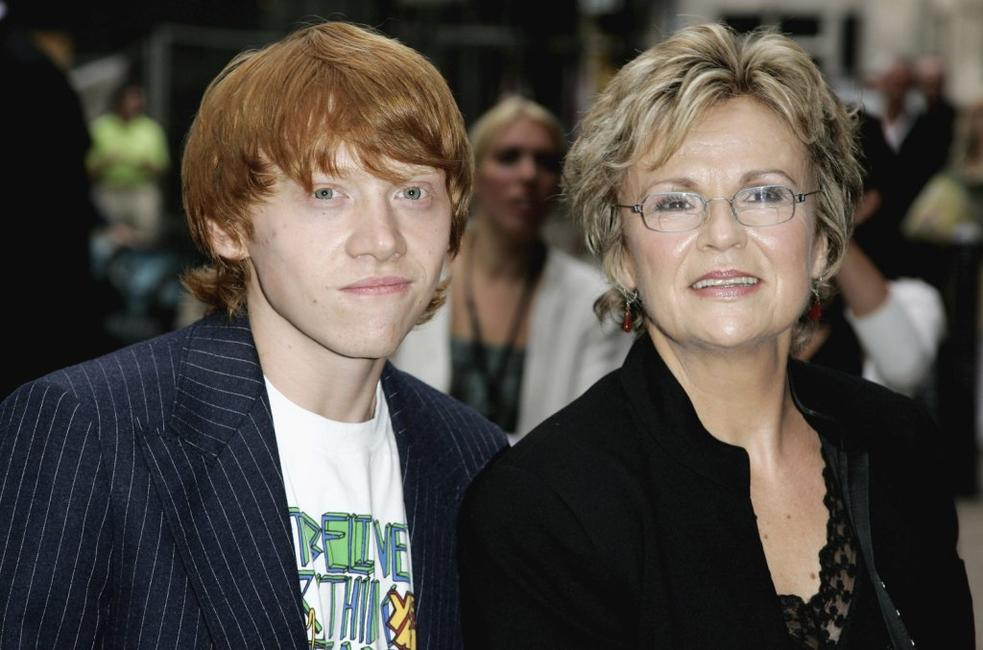Julie Walters and Rupert Grint at the premiere of the