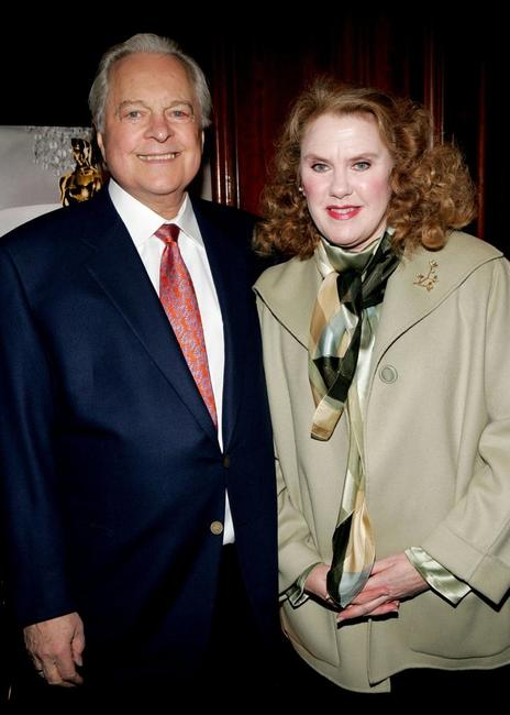 Robert Osborne and Celia Weston at the Academy of Motion Picture Arts & Sciences New York Oscar Night Celebration.