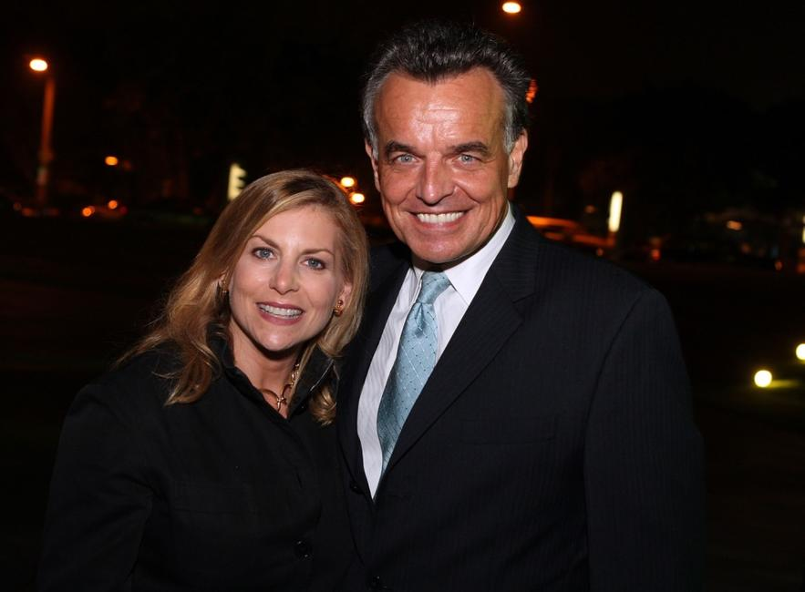 Dawn Ostroff and Ray Wise at the CW Television Critics Association Press Tour party.