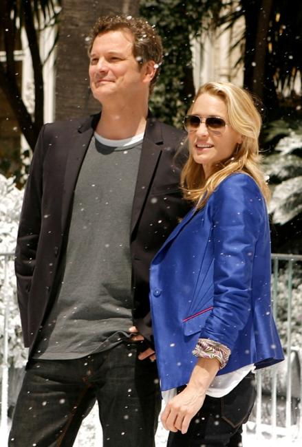Colin Firth and Robin Wright Penn at the photocall of
