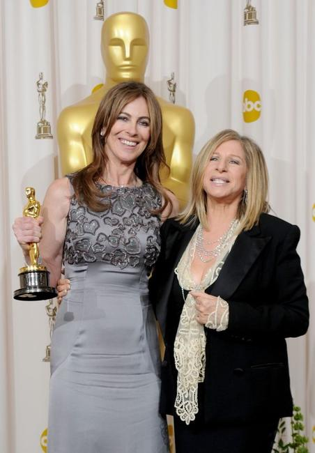 Kathryn Bigelow and Barbra Streisand at the 82nd Annual Academy Awards.