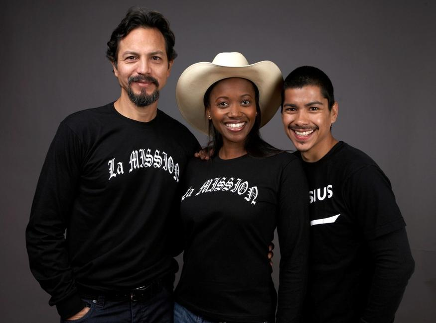 Benjamin Bratt, Erika Alexander and Jeremy Ray Valdez at the 2009 Sundance Film Festival.