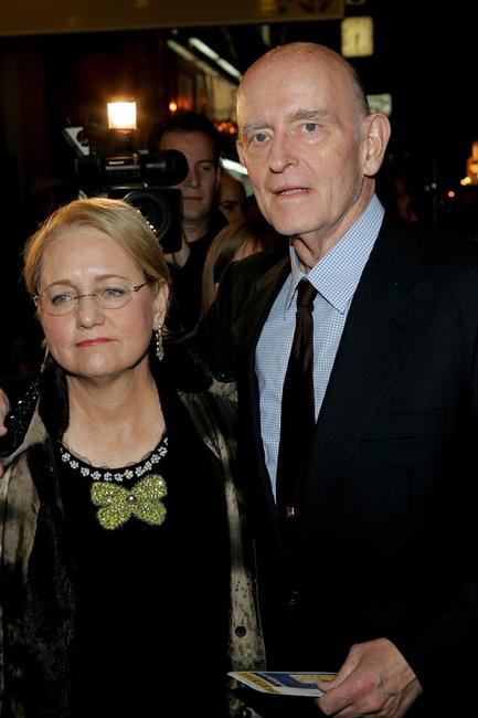 Peter Boyle and his wife Loraine Alterman at the play opening night of
