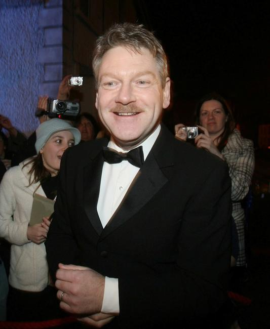 Kenneth Branagh at the La Charrette, Wales smallest cinema in United Kingdom.