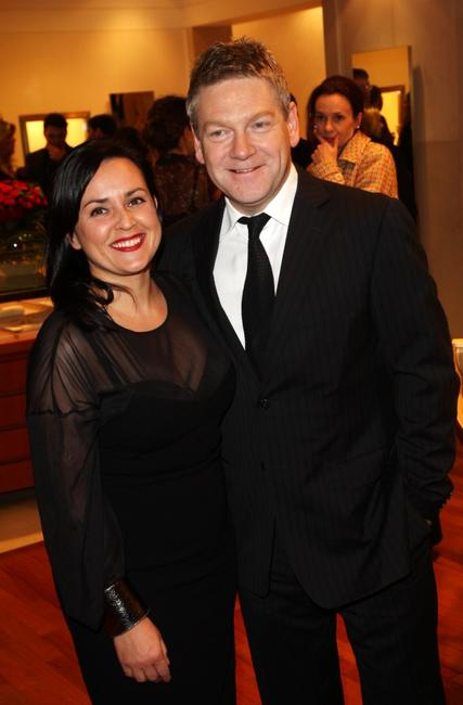 Kenneth Branagh and his wife Lindsay Brunnock at the