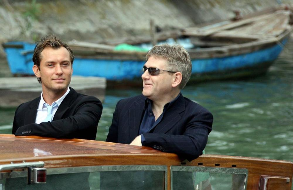 Kenneth Branagh and Jude Law at the Venice Lido to give a press conference on their movie