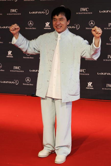 Jackie Chan at the Laureus World Sports Awards in Portugal.
