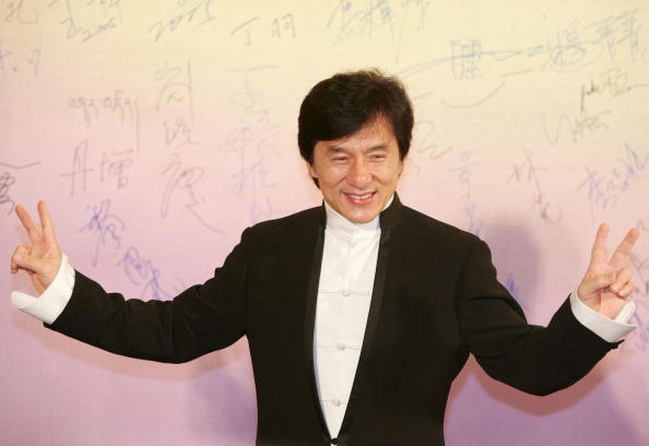 Jackie Chan at the 24th Hong Kong Film Award Presentation Ceremony.
