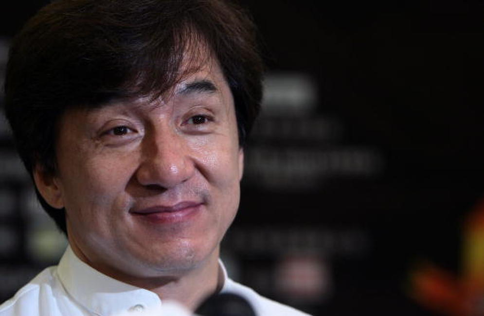 Jackie Chan at a China press conference for