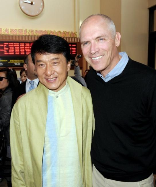 Jackie Chan and Joe Drake at the California premiere of