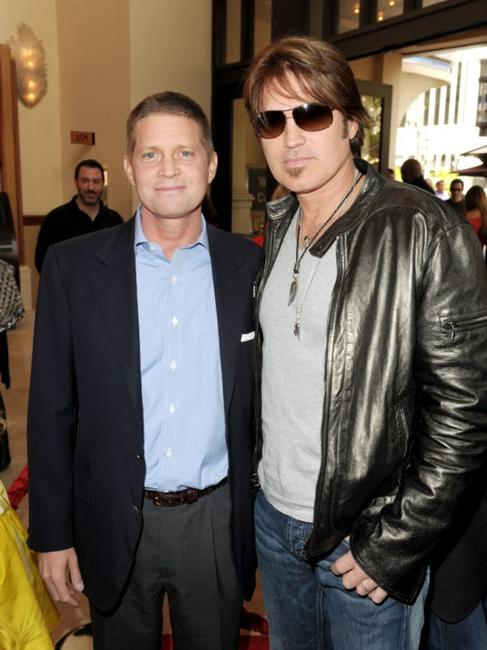 Robert Simonds and Billy Ray Cyrus at the California premiere of