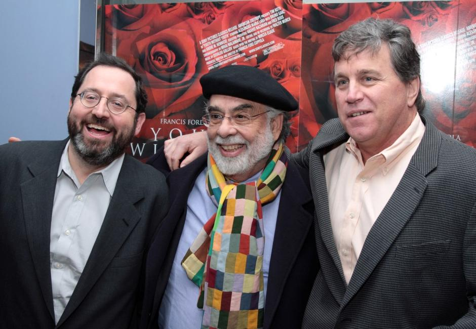 Francis Ford Coppola, Michael Barker and Tom Bernard at the New York premiere of