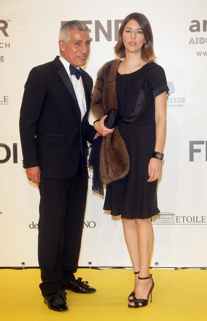 Sofia Coppola and guest at the amfAR's Inaugural Cinema Against AIDS Rome.