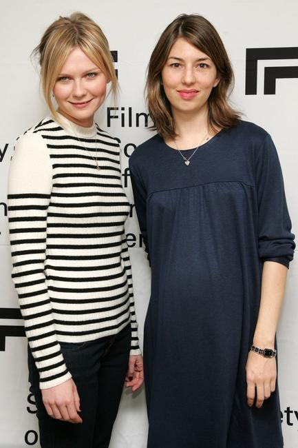 Sofia Coppola and Kirsten Dunst at the press conference for