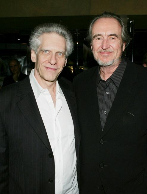 Wes Craven and David Cronenberg at the premiere of