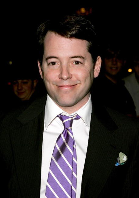 "Matthew Broderick at the taping of ""The Late Show with David Letterman"" in New York City."