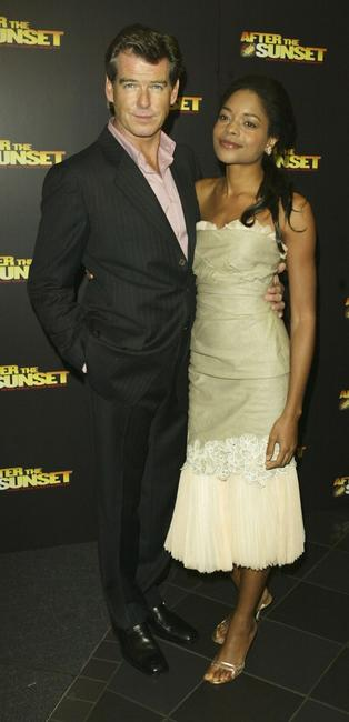 Pierce Brosnan and Naomie Harris at the London premiere of