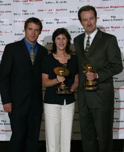 Ben Browder, Lauren Shuler Donner and Ralph Winter at the 30th Annual Saturn Awards.